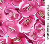 cherry blossom seamless pattern.... | Shutterstock .eps vector #181392518