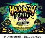 halloween green night party... | Shutterstock .eps vector #1813937693