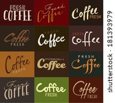 fresh coffee type styles | Shutterstock .eps vector #181393979