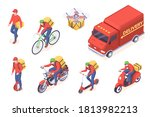 delivery service transport... | Shutterstock . vector #1813982213