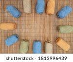 Rolls Of Colorful Yarn Good Fo...