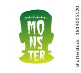 Frankenstein Monster  Lettering ...