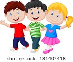 happy young children | Shutterstock . vector #181402418