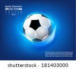 creative soccer vector design | Shutterstock .eps vector #181403000