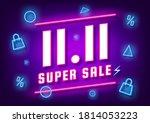 november 11 super sale shopping ... | Shutterstock .eps vector #1814053223