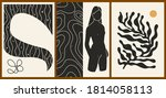 set of three abstract... | Shutterstock .eps vector #1814058113
