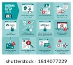 shopping safely online... | Shutterstock .eps vector #1814077229