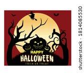 happy halloween trick or treat...   Shutterstock .eps vector #1814085530
