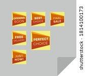 set of rectangular discount... | Shutterstock .eps vector #1814100173