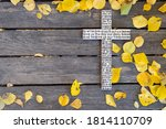 White Wooden Cross With The...
