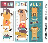 kids height chart with funny...   Shutterstock .eps vector #1814118449