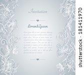 vector template for wedding... | Shutterstock .eps vector #181411970