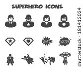 Superhero Icons  Mono Vector...