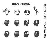 idea icons  mono vector symbols | Shutterstock .eps vector #181412030