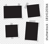 set of blank photos for collage.... | Shutterstock .eps vector #1814120366