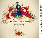 floral vector vintage card with ... | Shutterstock .eps vector #181412420