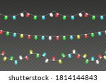 christmas lights. colorful xmas ... | Shutterstock .eps vector #1814144843