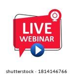 live webinar button icon ... | Shutterstock .eps vector #1814146766