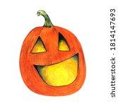 halloween pumpkin   decoration... | Shutterstock . vector #1814147693