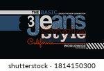 california  the basic jeans... | Shutterstock .eps vector #1814150300