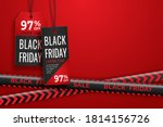 black friday realistic paper... | Shutterstock .eps vector #1814156726