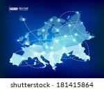 europe map polygonal with spot... | Shutterstock .eps vector #181415864