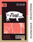 vector pork packaging or label...   Shutterstock .eps vector #1814159006