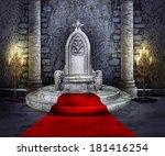 throne room | Shutterstock . vector #181416254