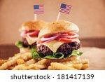 american ground beef cheese... | Shutterstock . vector #181417139