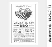 vintage usa memorial day...   Shutterstock .eps vector #181417478