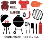 barbecue grill vector... | Shutterstock .eps vector #181417766