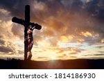 Cross At Sunset  Crucifixion Of ...