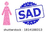 sad corroded stamp seal and... | Shutterstock .eps vector #1814188313