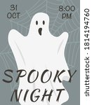 vector flyer of halloween event ... | Shutterstock .eps vector #1814194760