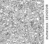 christmas seamless pattern in...   Shutterstock .eps vector #181420148