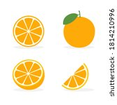 orange vector flat slice icon.... | Shutterstock .eps vector #1814210996