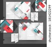 business brochure template...   Shutterstock . vector #181422299