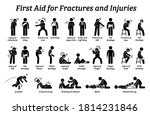 first aid for fractures and... | Shutterstock .eps vector #1814231846