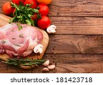 raw meat for barbecue with...