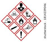 ghs hazard symbol sign  vector... | Shutterstock .eps vector #1814239046