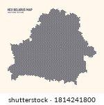 hex belarus map vector isolated ... | Shutterstock .eps vector #1814241800