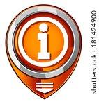 information sign   orange...   Shutterstock .eps vector #181424900