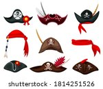 pirate hat. carnival pirate... | Shutterstock .eps vector #1814251526