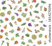 seamless pattern of interesting ... | Shutterstock .eps vector #1814270396