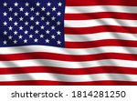 flag of usa or united states of ...   Shutterstock .eps vector #1814281250