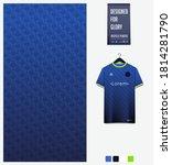 fabric textile design. blue... | Shutterstock .eps vector #1814281790