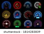 speedometers  speed indicator... | Shutterstock .eps vector #1814283839