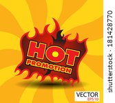 hot promotion sticker  with...   Shutterstock .eps vector #181428770