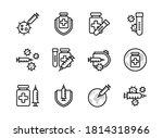 covid 19 vaccine icon set... | Shutterstock .eps vector #1814318966