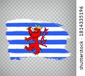 flag of  luxembourg brush...
